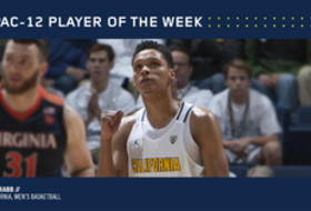 Pac-12 Men's Basketball Player of the Week Jan. 9, 2017 California's Ivan Rabb