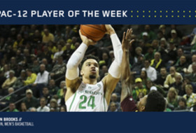 Pac-12 Men's Basketball Player of the Week Feb. 6, 2017 Oregon's Dillon Brooks
