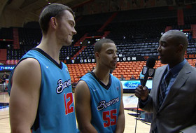 Postgame interview: Oregon State's Angus Brandt and Roberto Nelson