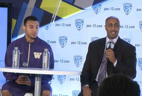2014-15 Pac-12 Men's Basketball Media Day: Washington's Lorenzo Romar & Nigel Williams-Goss