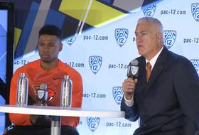 2014-15 Pac-12 Men's Basketball Media Day: Oregon State's Wayne Tinkle & Langston Morris-Walker
