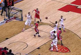 Utah freshman Jakob Poeltl finishes fast break with alley-oop dunk