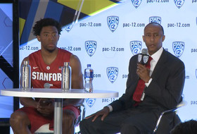 2014-15 Pac-12 Men's Basketball Media Day: Stanford's Johnny Dawkins & Chasson Randle
