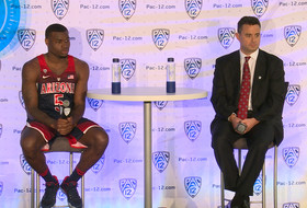 2016 Pac-12 Men's Basketball Day: Arizona's Sean Miller and Kadeem Allen