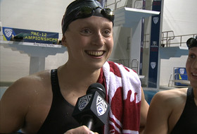 2017 Pac-12 Swimming (W) & Diving (M/W) Championships: Stanford's Katie Ledecky and Lia Neal discuss record-breaking night