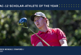 Stanford's McNealy Named 2016-17 Pac-12 Men's Golf Scholar-Athlete of the Year