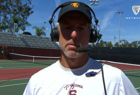 USC men's tennis head coach Peter Smith after Trojans take down UCLA