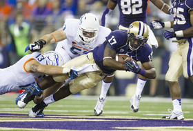 "<p>Keith Price led the Huskies to the Pac-12's first official <a href=""http://pac-12.com/videos/highlights-washington-football-shocks-boise-state-38-6"">upset of the season over the No. 19 Broncos</a> in first the game at renovated Husky Stadium. UW's senior quarterback threw for 324 yards and two touchdowns earning him a sport on the <a href=""http://pac-12.com/podcast/pac-12-networks-football-podcast-keith-price"">week 1 edition of the Pac-12 Networks Football Podcast</a>. </p>"
