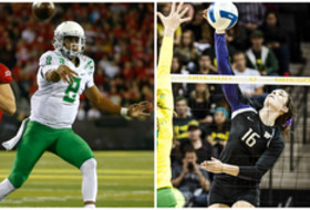 Oregon's Marcus Mariota and Washington's Krista Vansant are two of 24 Tom Hansen Medal Winners for 2014-15.