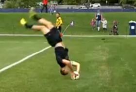 UW's Michael Harris is a master of the flip-throw