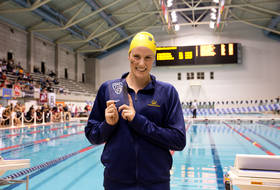 Cal's Missy Franklin on breaking the Pac-12 meet record for 200 yd. freestyle