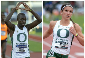 Day 1 of NCAA outdoor track & field championships: Edward Cheserek wins fourth NCAA title, Oregon men and women lead in team standings