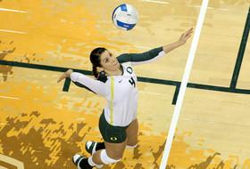 <p>Oregon volleyball Lauren Plum</p>