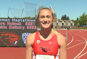 2017 Pac-12 Track & Field Championships: Oregon State's Kara Hallock on competing at home field: 'It made for a really great experience'