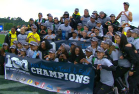 Oregon track & field dances their way to another Pac-12 title