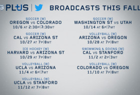 Pac-12 Networks announces first Pac-12 Plus streaming events on Twitter