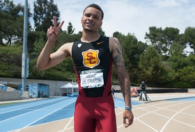 USC's Andre de Grasse breaks venue, meet records with 100-meter dash