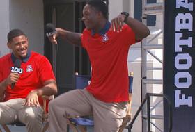 2015 Pac-12 Football Media Days: Arizona's Will Parks does the Rondae Hollis-Jefferson shimmy