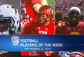 ASU's Kalen Ballage, Utah's Sunia Tauteoli and USC's Adoree' Jackson named football Players of the Week