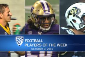 Cal's Davis Webb, Washington's Psalm Wooching, and Colorado's Davis Price named Pac-12 football Players of the Week