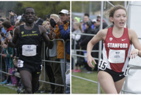 2015 Pac-12 Cross Country Champions - Edward Cheserek, OREGON and Aisling Cuffe, STANFORD