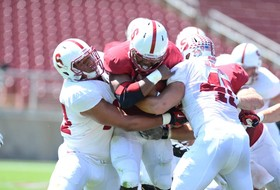Video: Stanford defense shines in spring game