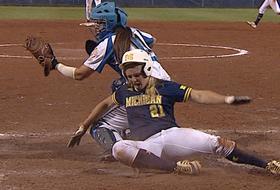 Highlights: UCLA softball drops game 2 of WCWS to hard-hitting Michigan