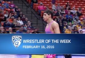 Boise State's Geordan Martinez wins Pac-12 Wrestler of the Week for for Feb. 16
