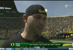 Oregon's Kyle Long discusses first-round selection in NFL Draft