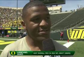 LaMichael James discusses being back at Autzen Stadium