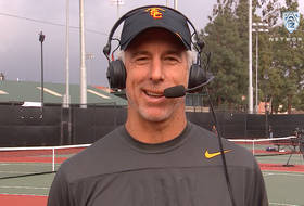 USC men's tennis head coach Peter Smith after top-ranked Trojans beat Stanford