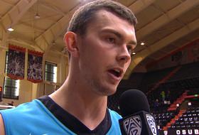 Postgame interview: Oregon State's Angus Brandt looks forward to Washington