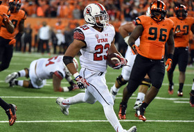 """<p>The weekend got off to a wild start Thursday, when the <a href=""""http://pac-12.com/videos/highlights-utah-football-holds-double-overtime-win-against-oregon-state"""">Devontae Booker-led Utes went into Corvallis</a> and established themselves as conference contenders. <a href=""""http://pac-12.com/article/2014/10/16/utahs-devontae-booker-shines-double-overtime-win-over-oregon-state"""">Booker was the star for Utah, rushing for 229 yards and three touchdowns</a>…on a night when their QB's combined for only 62 yards passing. <a href=""""http://pac-12.com/article/2014/10/16/oregon-state-kicker-trevor-romaine-has-roller-coaster-night"""">Oregon State missed a FG attempt in the second overtime</a>. <a href=""""http://pac-12.com/football/event/2014/10/25/usc-utah"""">Utah has a showdown with USC looming</a>, while the <a href=""""http://pac-12.com/football/event/2014/10/25/oregon-state-stanford"""">Beavers travel to Stanford.</a></p>"""