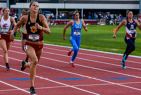 Pac-12 Track & Field Championships - Multis with USC's Amaie Iuel in the lead.