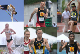 2015 Pac-12 track and field honors announced. USC's Andre De Grasse, Oregon's Jasmine Todd, Colorado's Erin Clark, Arizona State's Shelby Houlihan, USC's Marquis Morris and Arizona's Pau Tonnesen honored.