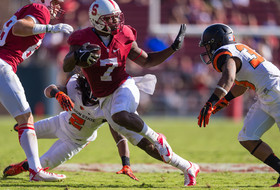 Stanford's Ty Montgomery scores on 50-yard punt return against Oregon State