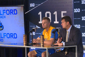 2015 Pac-12 Men's Basketball Media Day: UCLA's Steve Alford and Bryce Alford