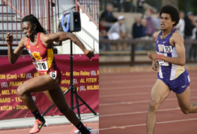 Pac-12 Track and Field Championships this weekend (USC's Jaide Stepter, Washington's Izaic Yorks)