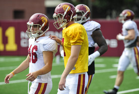 Roundup: Jake Olson takes first live-drill rep at USC practice