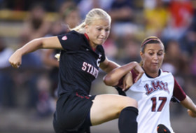 <p>Stanford's Tayloy Uhl on Friday, September 6, 2013 against Loyola Marymount</p>
