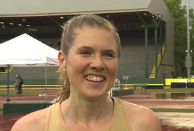 Colorado's Erin Clark walks us through her 10,000m title win, shouts out her mom for Mother's Day