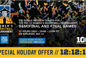Promotion features $12 tickets to semifinals and championship of Pac-12 Women's Basketball Tournament