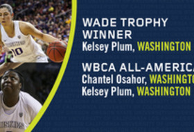 Washington's Kelsey Plum and Chantel Osahor honored by WBCA