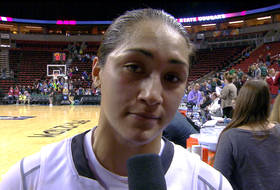 Washington State's Lia Galdeira talks first round performance against Oregon