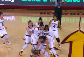 Sophie Brunner's buzzer-beater from opposite three-point line is the #12Best play of the week