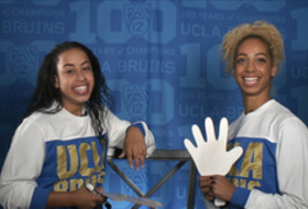 Teammate Challenge: UCLA women's gymnasts Sophina Dejesus agree 'sparkles' is a color