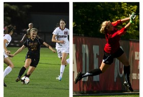 <p>ASU's Sarah Tosti and Utah's Lindsey Luke Women's Soccer Players of the Week October 8, 2013</p>
