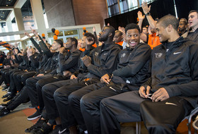 Oregon State men's basketball NCAA celebration