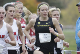 Oregon's Allie Cash at 2015 Pac-12 Cross Country Championships