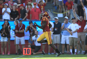 Nelson Agholor scores for USC on a 54-yard punt return